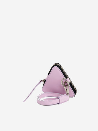 'LOVE' letter triangle leather coin purse