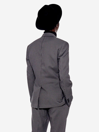Structured houndstooth blazer