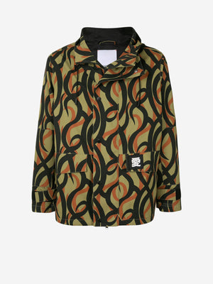 Artistic abstract camouflage parka