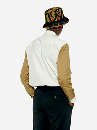 Colourblock utility patch shirt