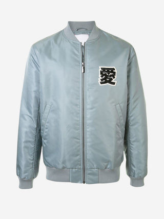 'LOVE' letter satin bomber jacket