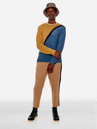 Bicolour two-tone panel sweater