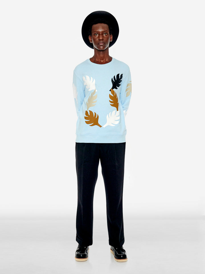 Post-Impressionist art leaf sweatshirt