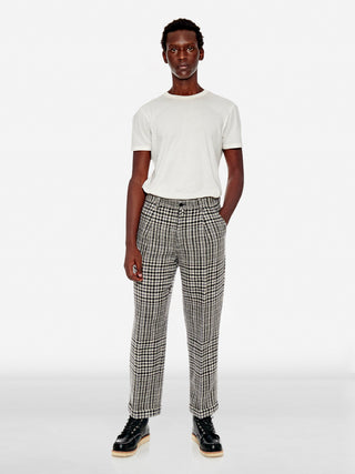 Tailored houndstooth wool trousers