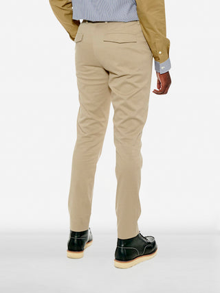 Tailored cotton blend trousers