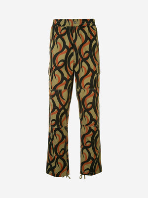 Abstract camouflage print utility trousers