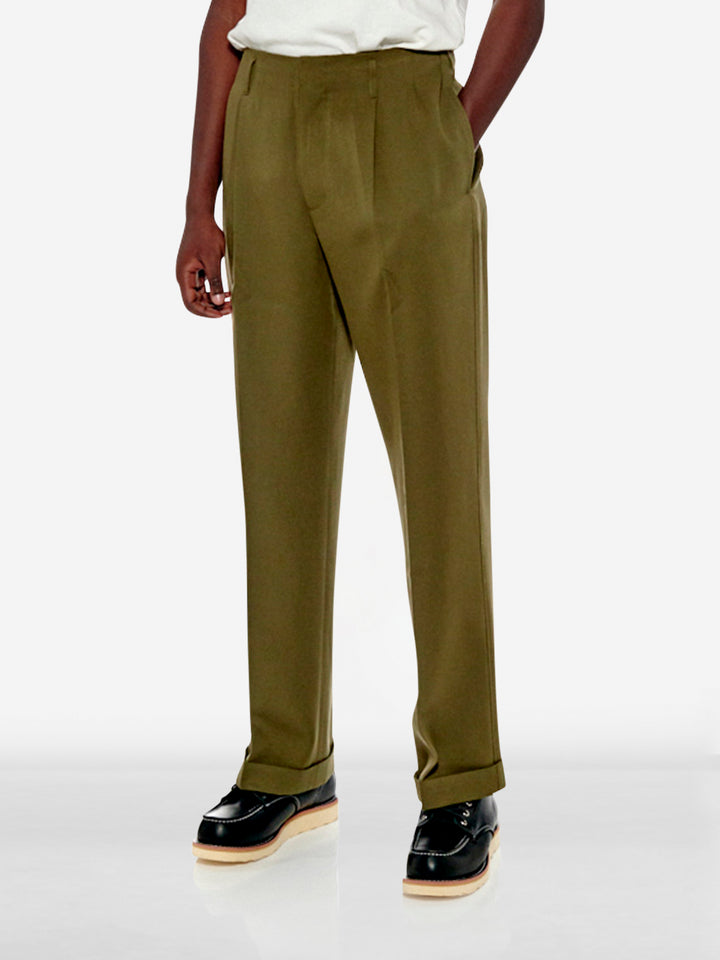 Pleated tailored trousers