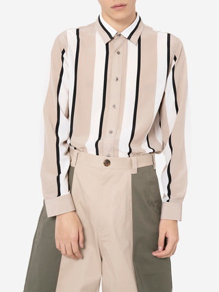 Modern Striped Button Down Shirt