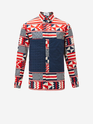 Geometric Mosaic Long Sleeve Shirt