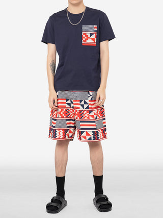 Geometric Mosaic Square T-Shirt