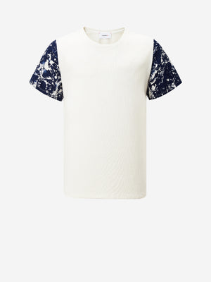Marbling Sleeve Contrast T-Shirt
