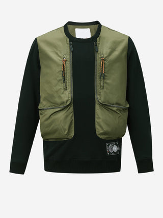Fisherman Vest Front Sweatshirt