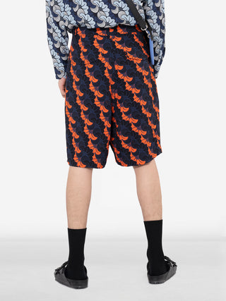 Gingko Patterned Shorts