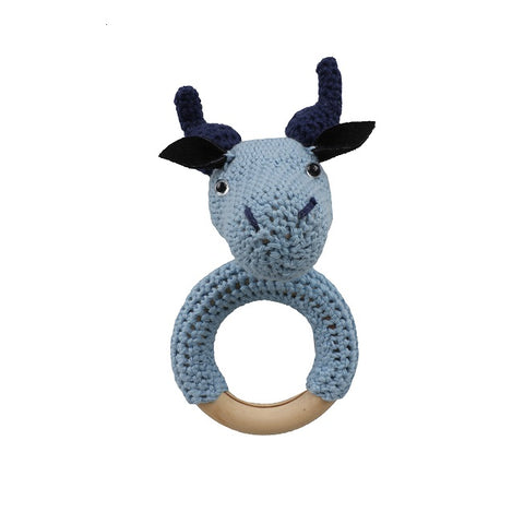 SALE Blue Bull Teether Rattle