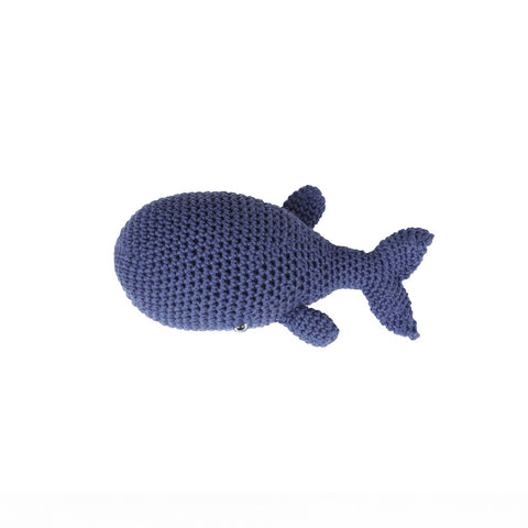SALE  Cotton Baby Shaker - Whale