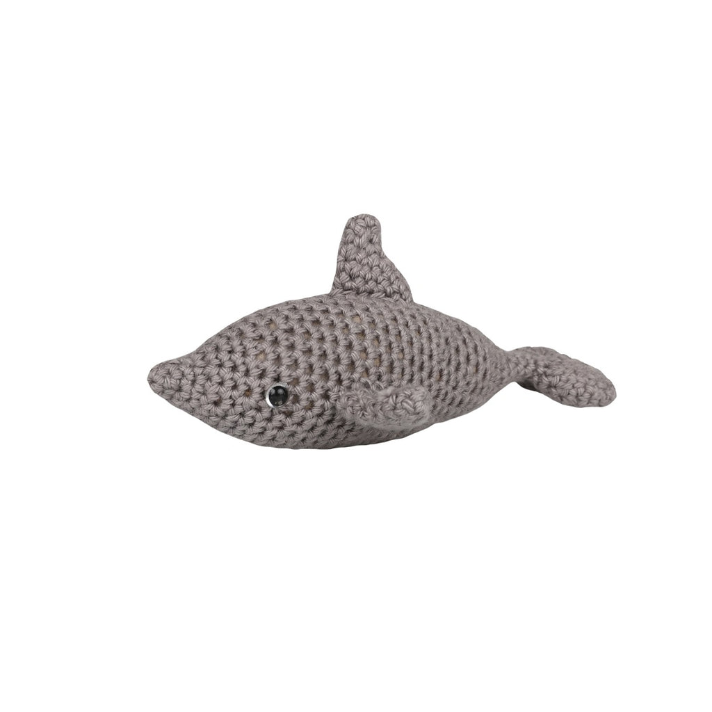 Cotton Baby Shaker - Dolphin