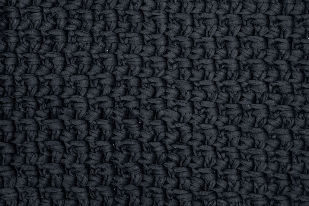 Black 75cm by 50cm  Moss Stitch Bathmat - ASSORTED