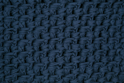 Navy 75cm by 50cm  Moss Stitch Bathmat - ASSORTED