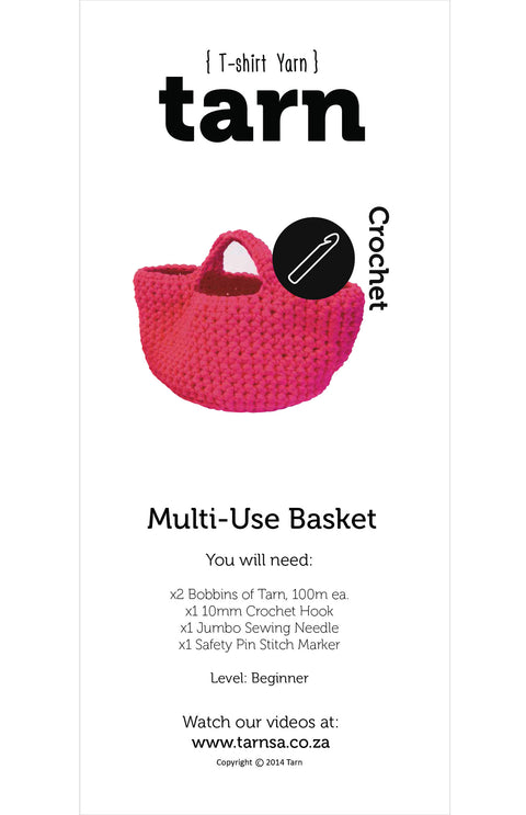 Multi-Use Basket Large Pattern - Available Online Only