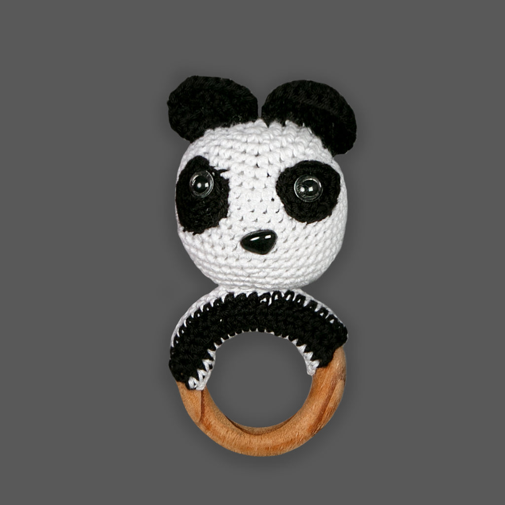 Panda Teether Rattle