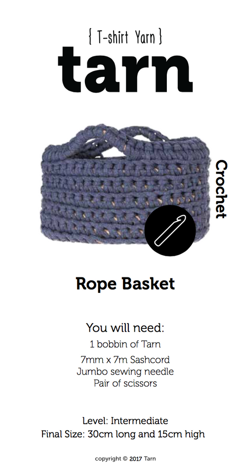 Rope Basket Pattern