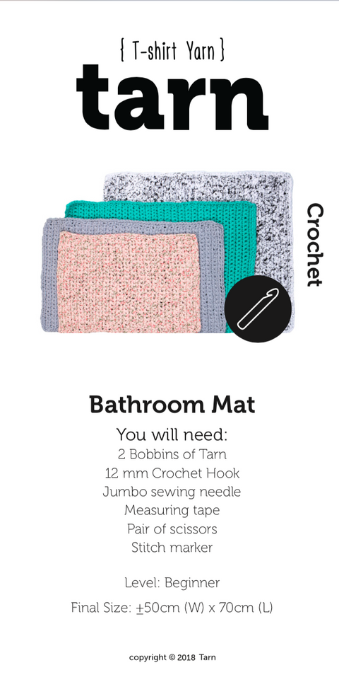 Printed Bathroom Mat Pattern