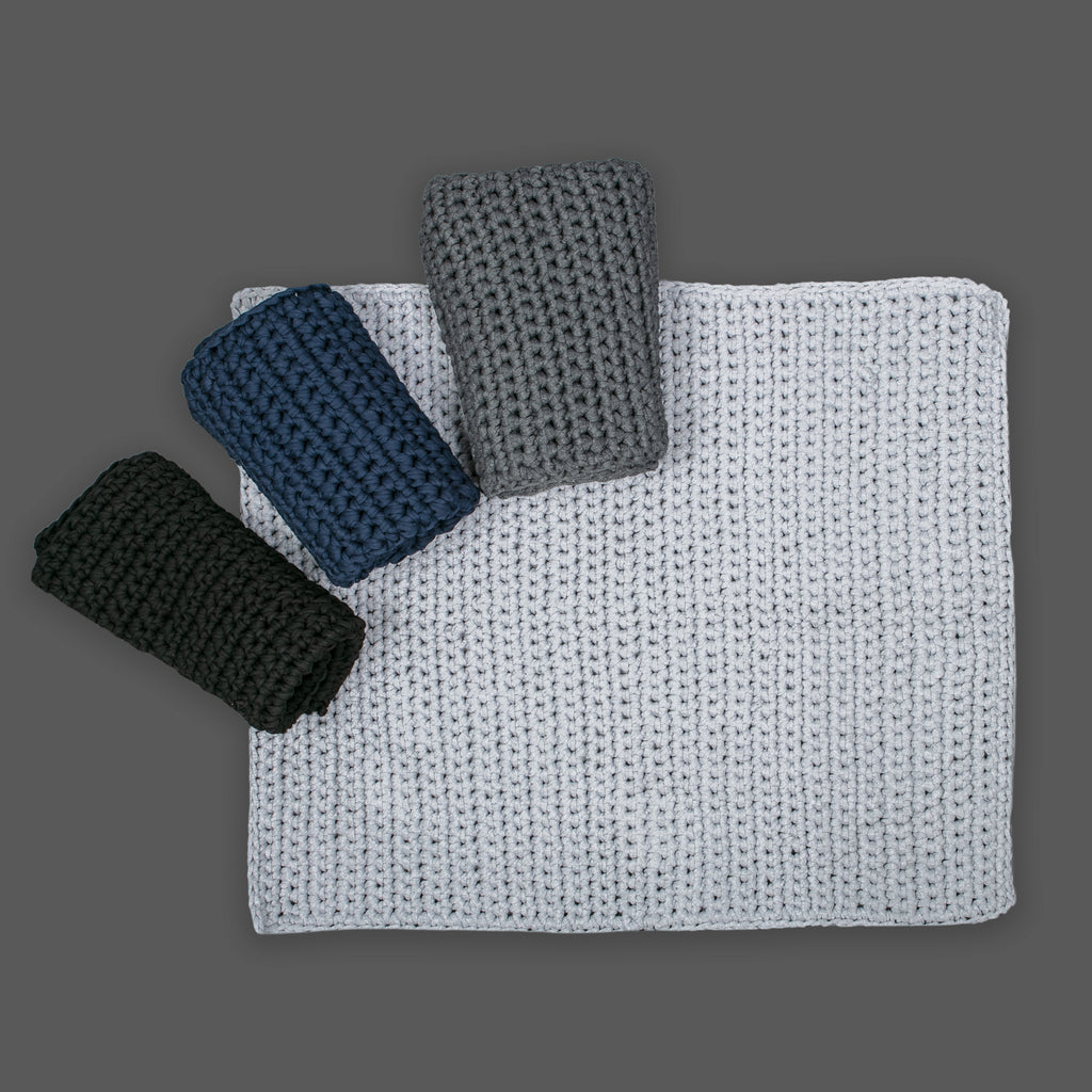 Grey Single Stitch mat 80 by 100cm