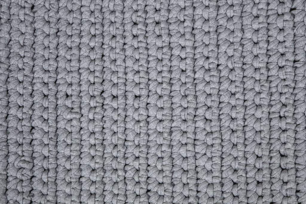 Grey 60cm by 80cm Single Stitch Bathmat