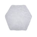 White 90cm Hexagonal Rugs