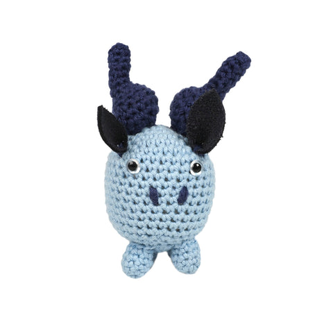 Cotton Baby Shaker - Blue Bull