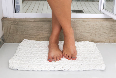 White 50 by 38cm Mini - Eco Friendlier - Bathmat