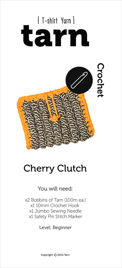 Printed Cherry Clutch Pattern
