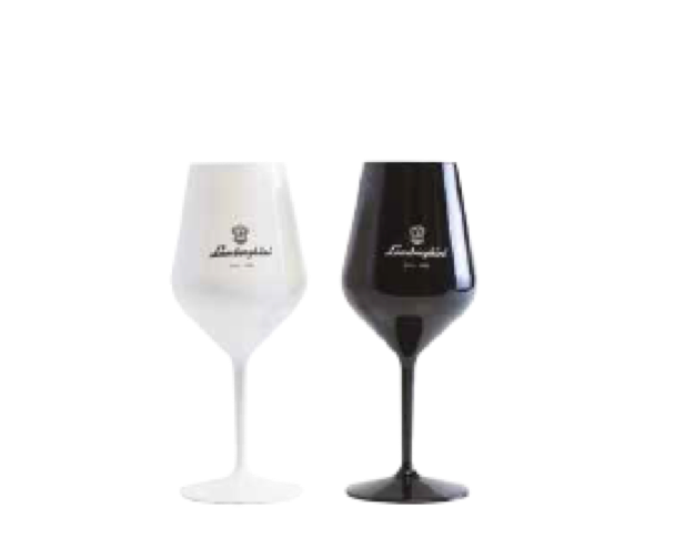 Lamborghini Black & White Acrylic Champagne Poolside Glasses (Set of 4pc)