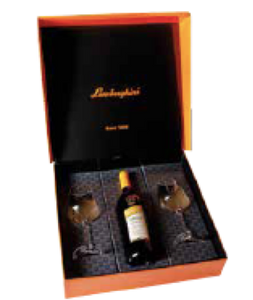 Lamborghini Gift box including 2 Wine Glasses for 750ml Bottle