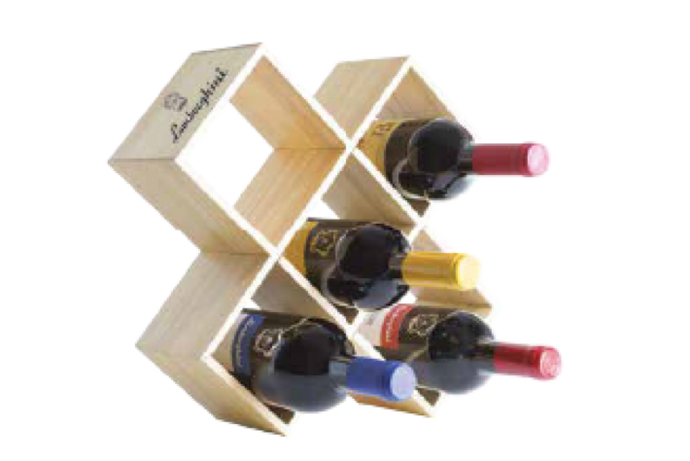 Lamborghini Wooden Gift box for 5x750ml Wine Bottles