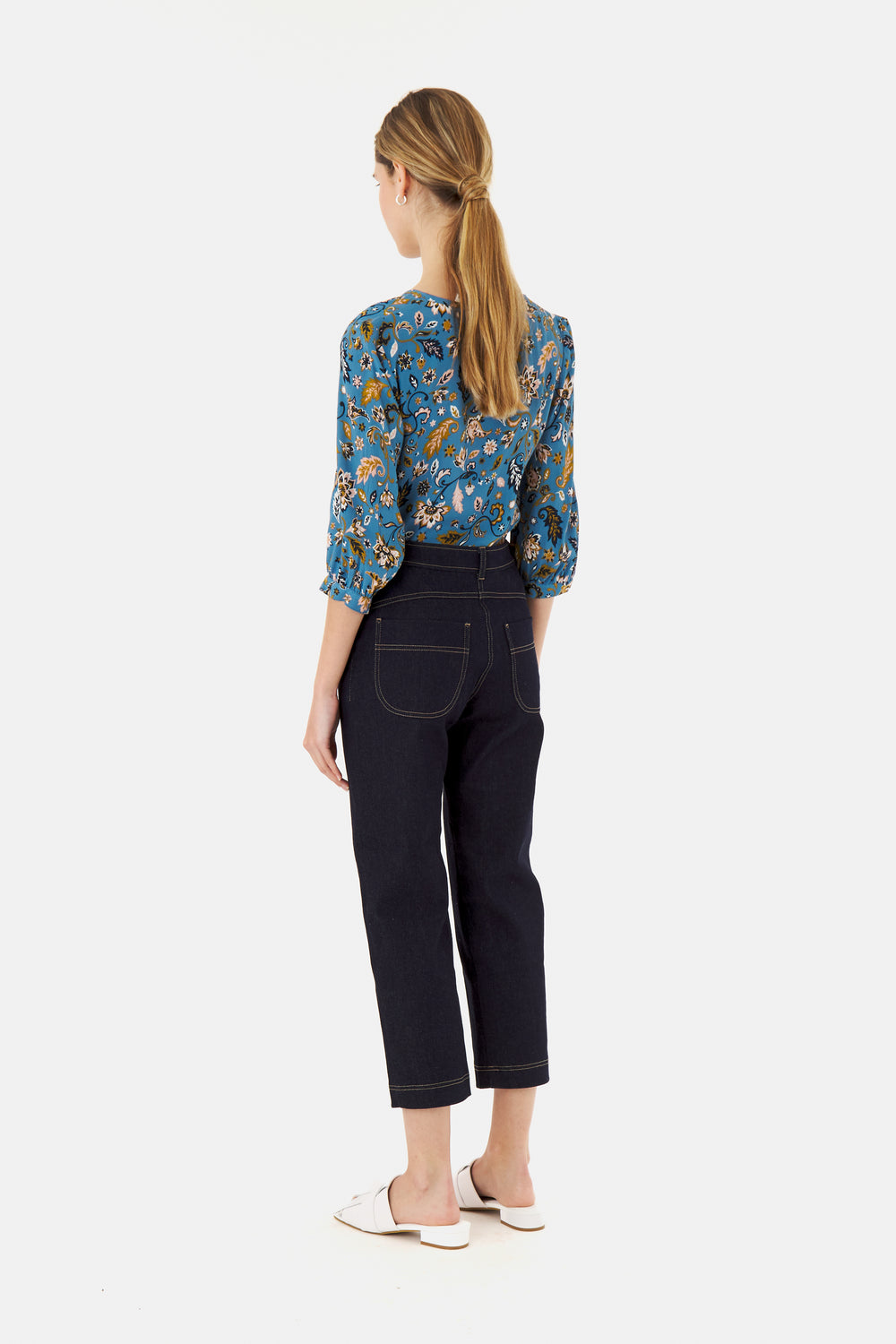 Denim Cropped Trouser