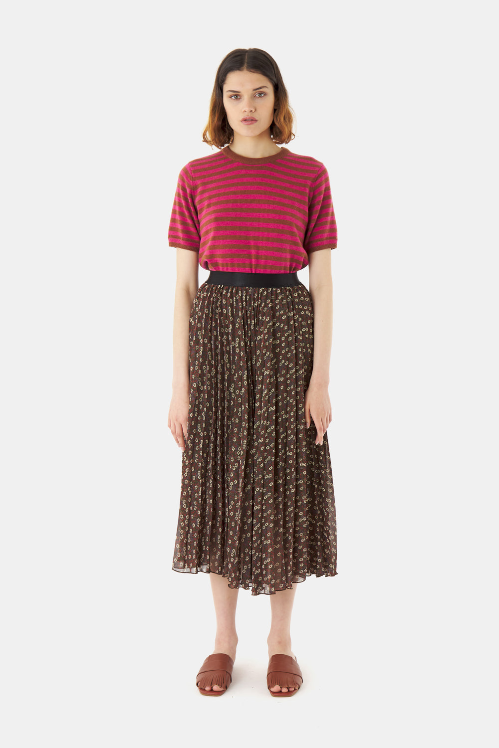 Dimity pleat skirt