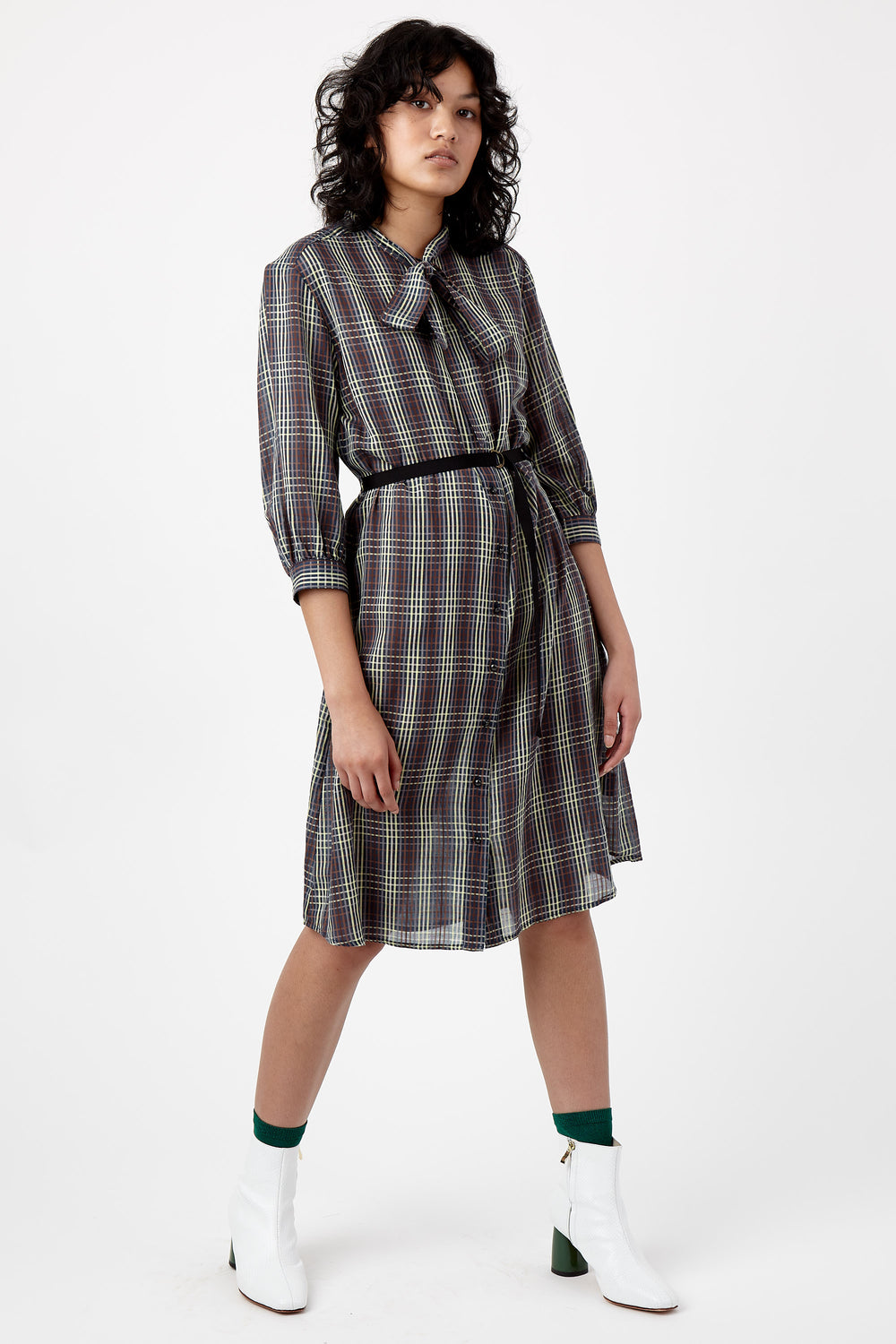 Checkers shirt dress