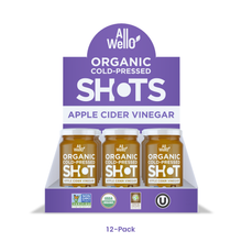 Load image into Gallery viewer, AllWellO Organic Cold-Pressed Apple Cider Vinegar Shot
