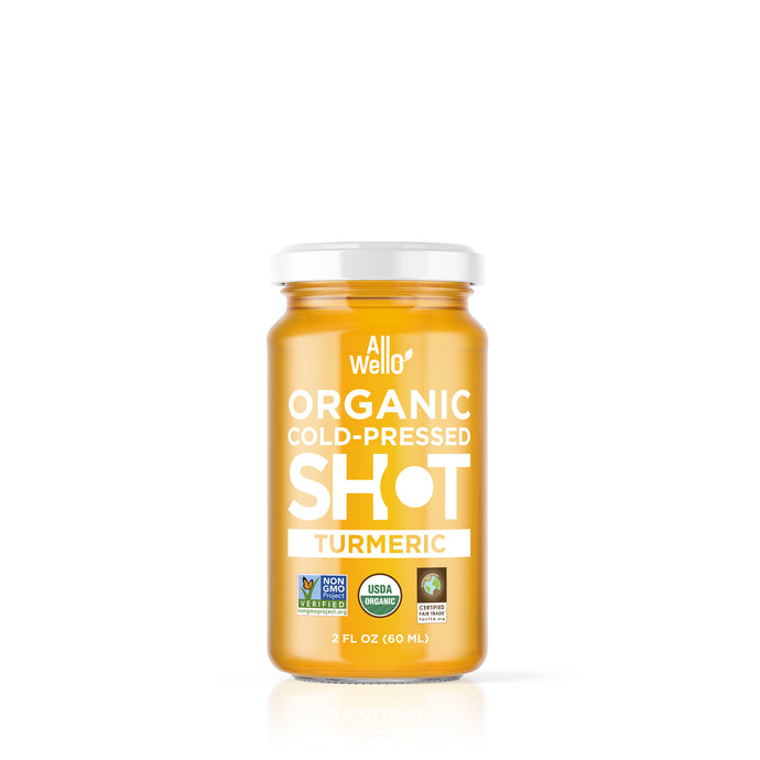 AllWellO Organic Cold-Pressed Turmeric Shot