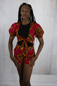 African Fabric Shorts