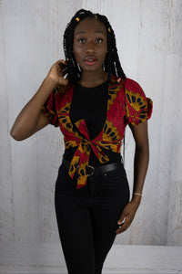 African Tie Up Shirt