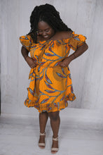 Load image into Gallery viewer, Off the Shoulder African Dress