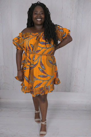Off the Shoulder African Dress