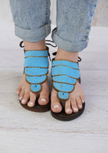 Load image into Gallery viewer, Summer Sandals Blue
