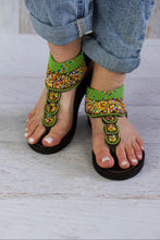 Load image into Gallery viewer, Beaded Sandals Flat