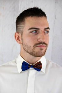 Blue and Orange Bow Tie Set