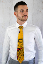 Load image into Gallery viewer, Yellow African Tie