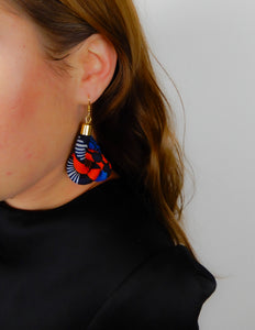 African Fabric Knot Earrings