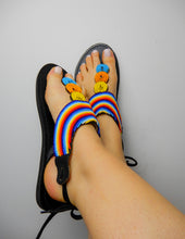 Load image into Gallery viewer, Bright Rainbow Sandals